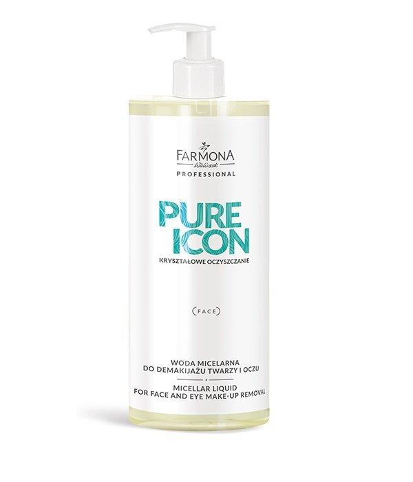 Farmona Pure Icon - Woda Micelarna do demakijażu twarzy i oczu - 500 ml