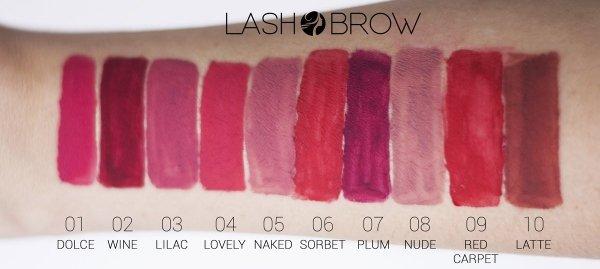 Lash Brow Matowa pomadka w płynie 03 Lilac