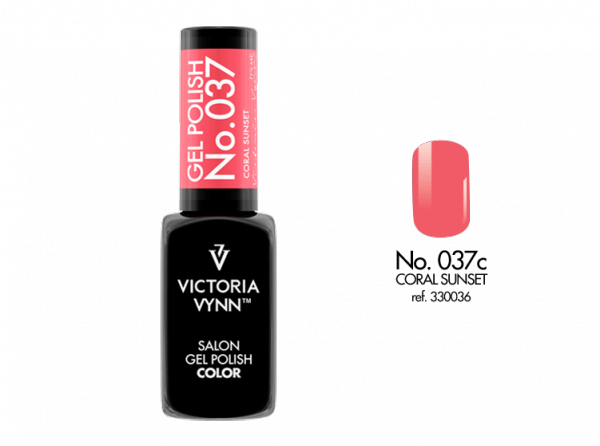 Victoria Vynn Gel Polish Color - Coral Sunset No.037 8 ml