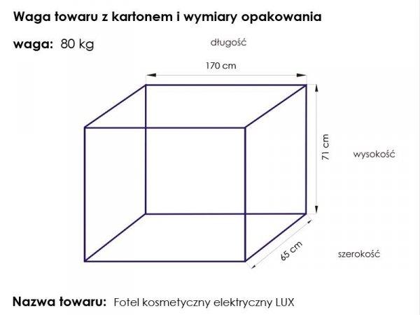 Fotel kosmetyczny - elektryczny - LUX 4M - biały