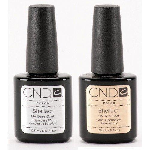 Promocja CND Shellac  UV Top Coat 15ml + Baza 12.5ml
