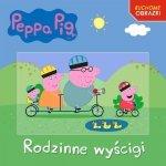 Świnka Peppa Ruchome obrazki Rodzinne wyścigi (z okładką 3D)