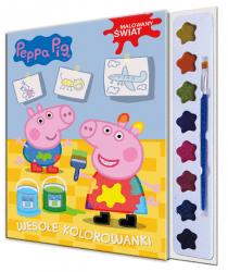 Świnka Peppa Malowany świat Wesołe kolorowanki (z farbkami)
