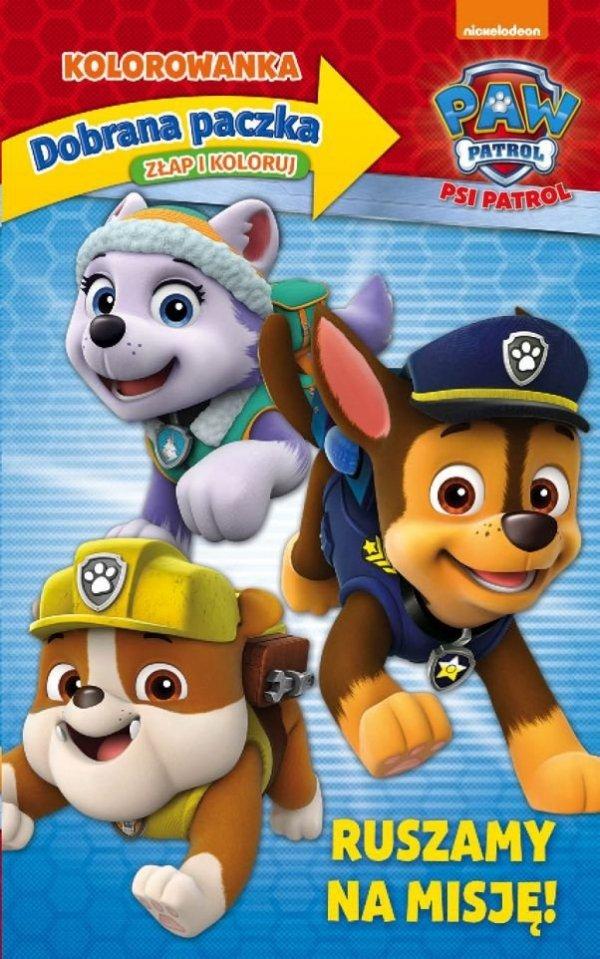 Psi Patrol Dobrana paczka 2 Złap i koloruj (24 kolorowanki + 24 naklejki + 4 kredki)