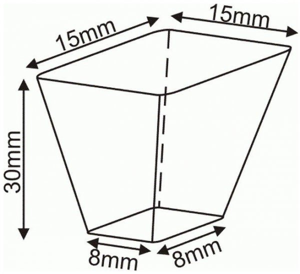 Wielodoniczki palety rozsadowe 30x51 cm DP 15/576