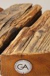 Drewniany Stołek okrągły z białymi nogami Projekt Stołek