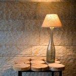 Lampa Stołowa szara średnia LGH0191 Gie El
