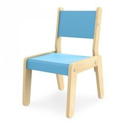 Krzesełko dziecięce Simple Niebieskie