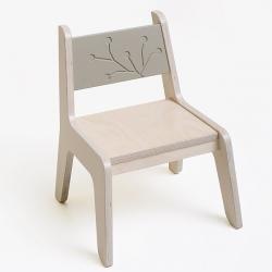 KuKuu Krzesełko Dziecięce L w kolorze kakaowym Bird&Berry