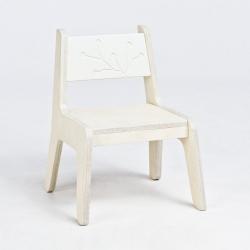 KuKuu Krzesełko Dziecięce L w kolorze mlecznym Bird&Berry