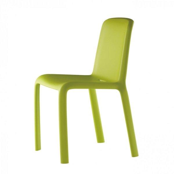 Nowoczesne krzesło pgrodowe Snow Pedrali w kolorze zielonym