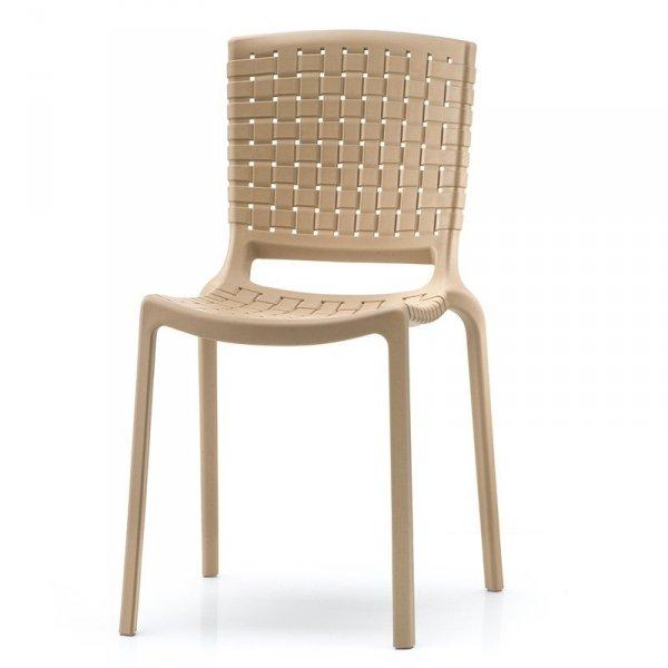 Nowoczesne krzesło Tatami 305 w kolorze piaskowym