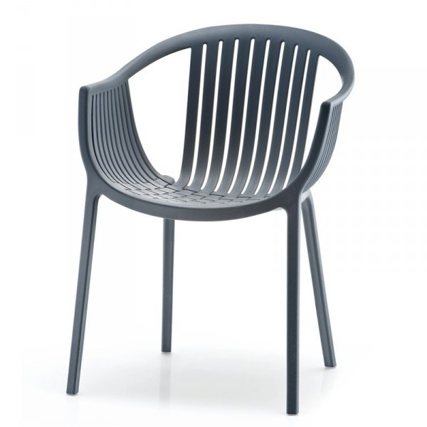 Nowoczesne krzesło ogrodowe Pedrali Tatami 306 Grafitowe