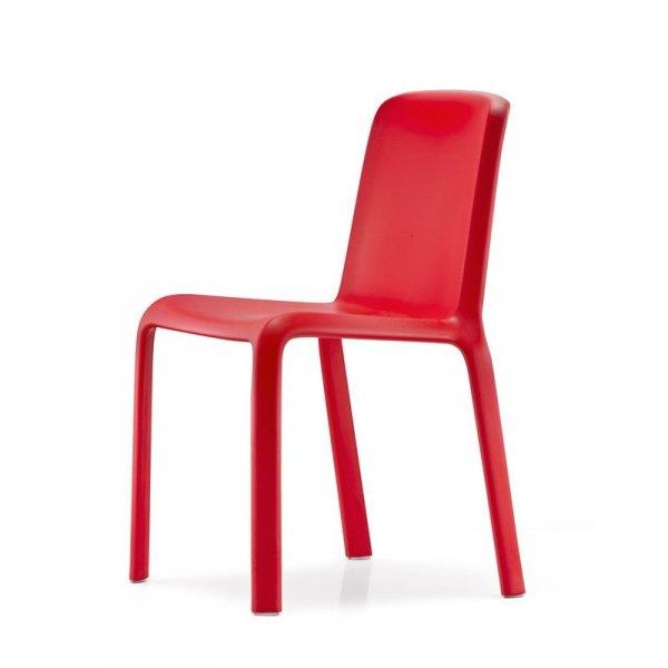Krzesła ogrodowe Pedrali Snow 300 w kolorze czerwonym