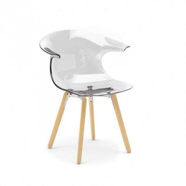Nowoczesne krzesło Loop na drewnianych nogach Infiniti