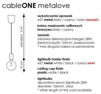 Cable ONE Metalove Lampa CablePower