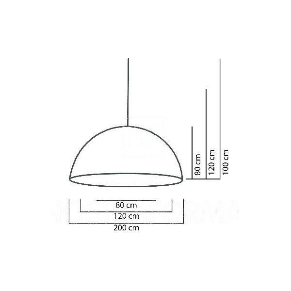 Cupole Slide Lampa Wisząca Ø 200 h 100 Lakierowana