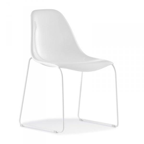 Lekie i wytrzymałe krzesła Day Dream 401 Pedrali białe
