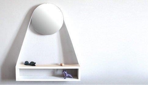 Bienvenue Półka z lustrem OXYO