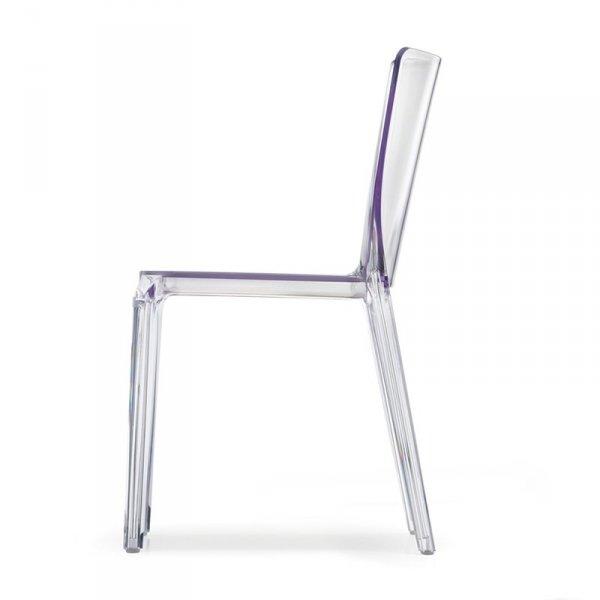 Transparentne krzesła do jadalni Pedrali Blitz 640