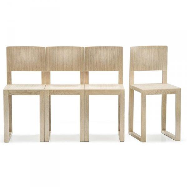 Drewniane krzesła do poczekalni Brera 380