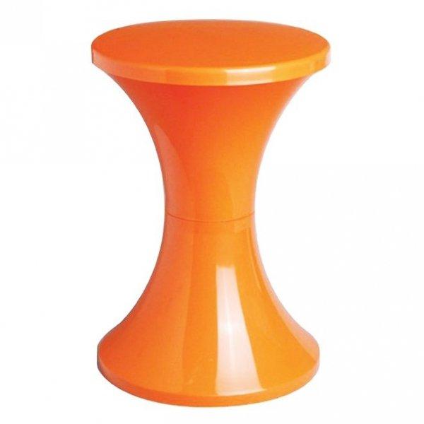 Stylowy stołek Tam Tam Pop pomarańczowy zaprojektowany przez Henry Massonnet