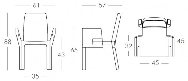 Doublix Krzesło Slide