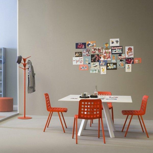 Designerskie krzesła do jadalni Pedrali