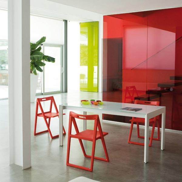 Kolorowe krzesła do jadalni Pedrali