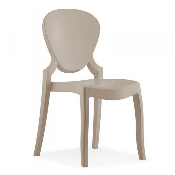 Stylowe krzesła do jadalni Pedrali Queen 650 Piaskowe