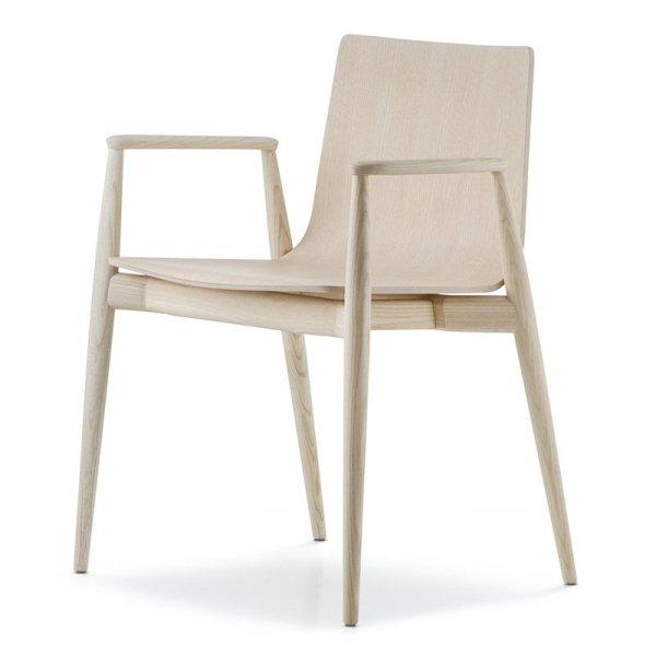 Stylowe krzesło drewniane Malmo 395 Pedrali