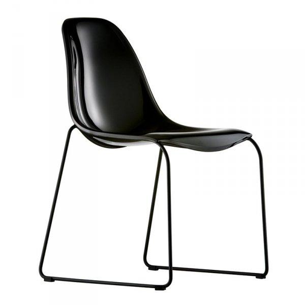Nowoczesne, lekkie krzesła Day Dream Pedrali czarne