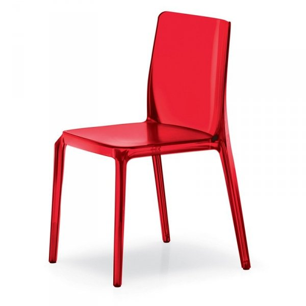 Stylowe krzesło transparentne Blitz 640 Pedrali