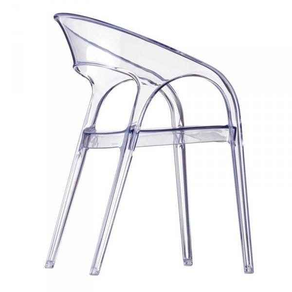 Transparentne krzesło o nowoczesnej formie Gossip marki Pedrali
