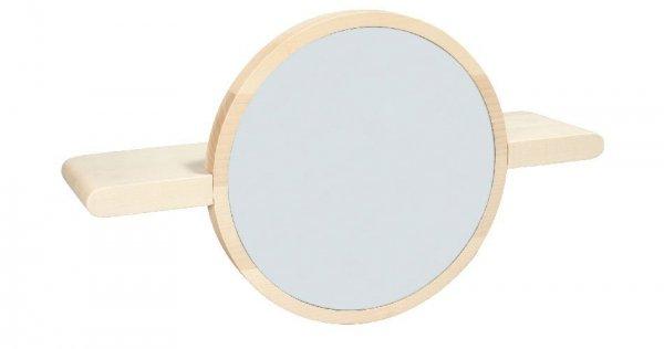 Mirette półka z lustrem okrągła OXYO