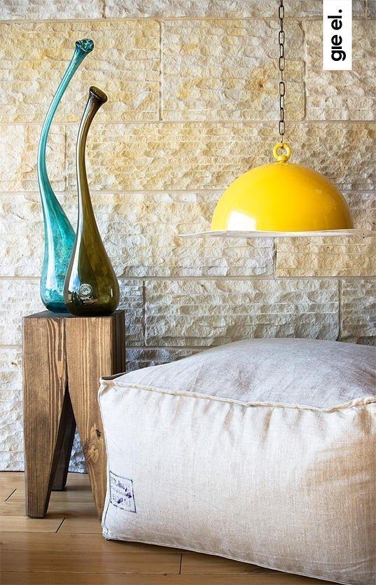 Drewniany stołek Barowy Gie El