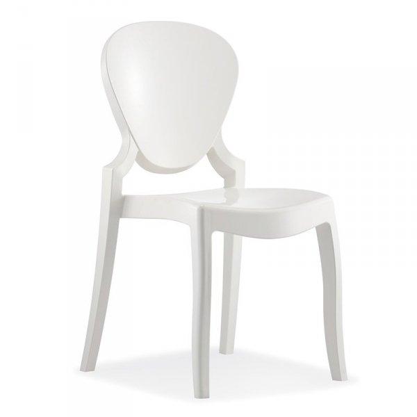 Designerskie krzesło idealne do stylowycg wnętrz Queen 650 Pedrali białe