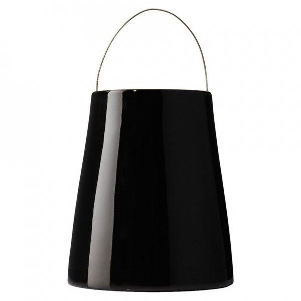 Boskke Sky Planter wisząca doniczka Ceramiczna Medium Czarna