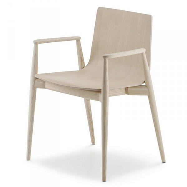 Designerskie krzesło w stylu skandynawskim Malmo 395 Pedrali