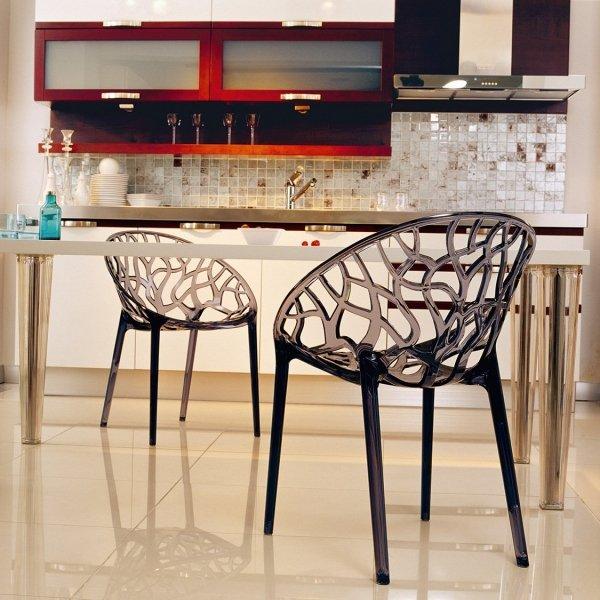 Nowoczesne Krzesło Crystal Siesta