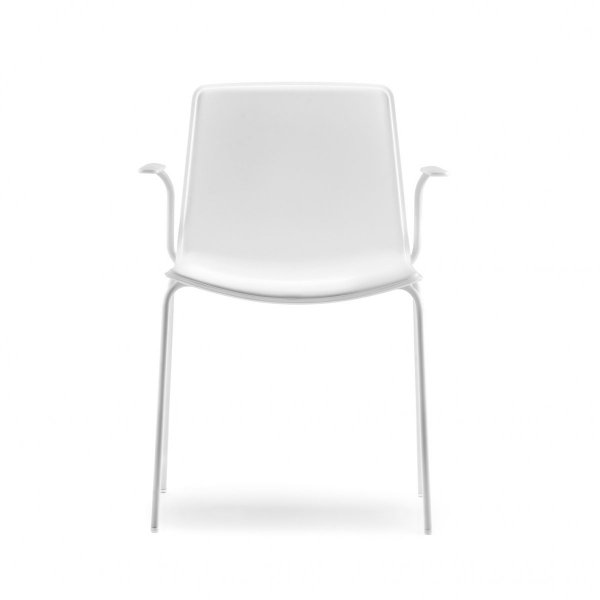 Tweet 895 Krzesło jednokolorowe z podłokietnikami Pedrali