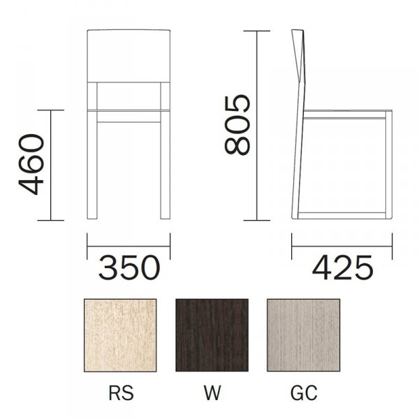 Nowoczesne krzesła drewniane Brera 380 Pedrali wymairy