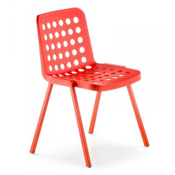 Nowoczesne krzesła perforowane Koi-Booki 370 Pedrali Czerwone