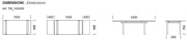 Stół Rozkładany 2400mm Magic Pedrali