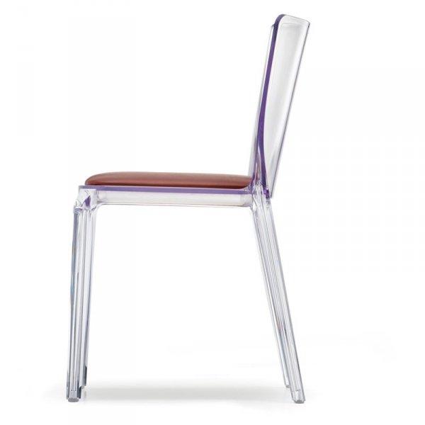 Transparentne krzesła do jadalni z poduszką Pedrali Blitz 640