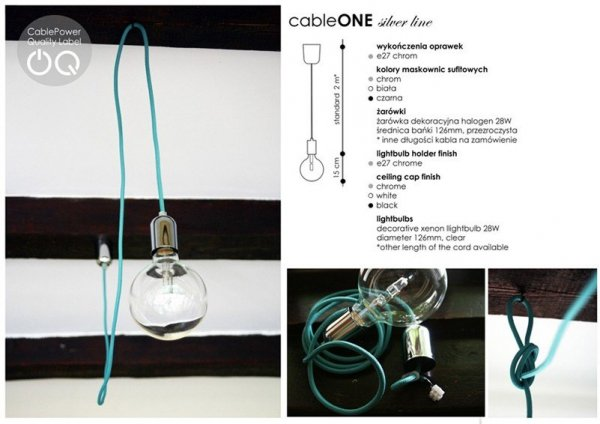 Cable ONE Silver Line Lampa CablePower