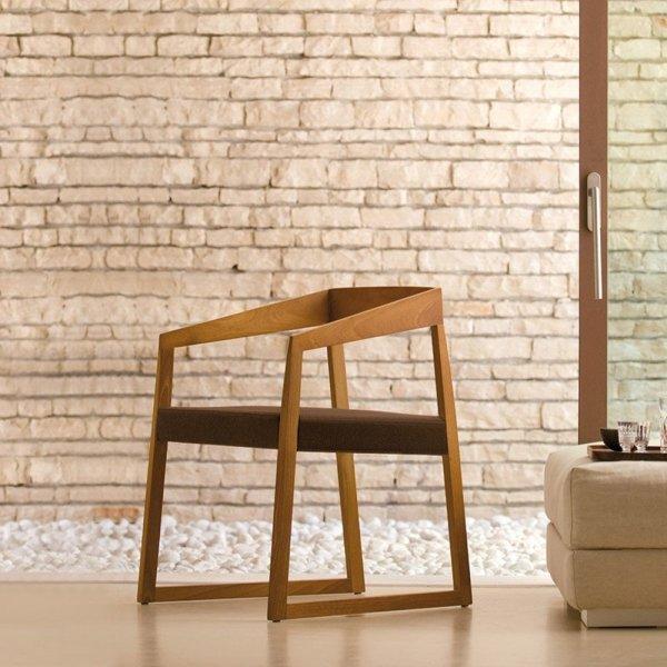 Drewniany fotel do nowoczesnych wnętrz Sign 455 Pedrali