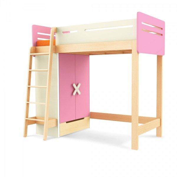 Łóżko piętrowe z szafą Simple Timoore