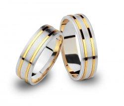 Srebrno-złote obrączki 925 585 grawer