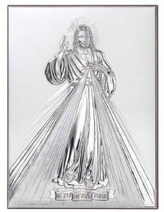 Jezu Ufam Tobie obrazek Ryngraf srebrny dedykacja
